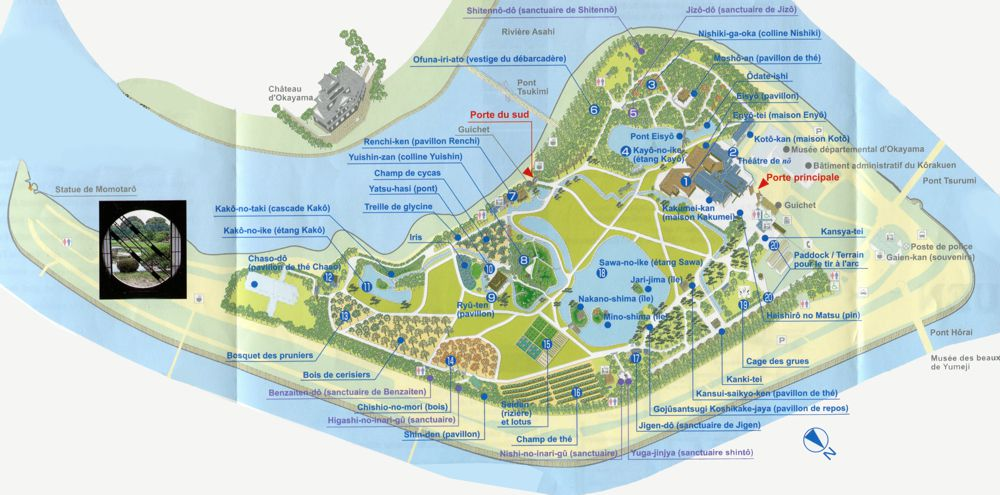 Korakuen garden map garden ftempo for Grimaldi s pizza palm beach gardens